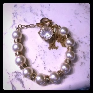 The Limited pearl rhinestone bracelet